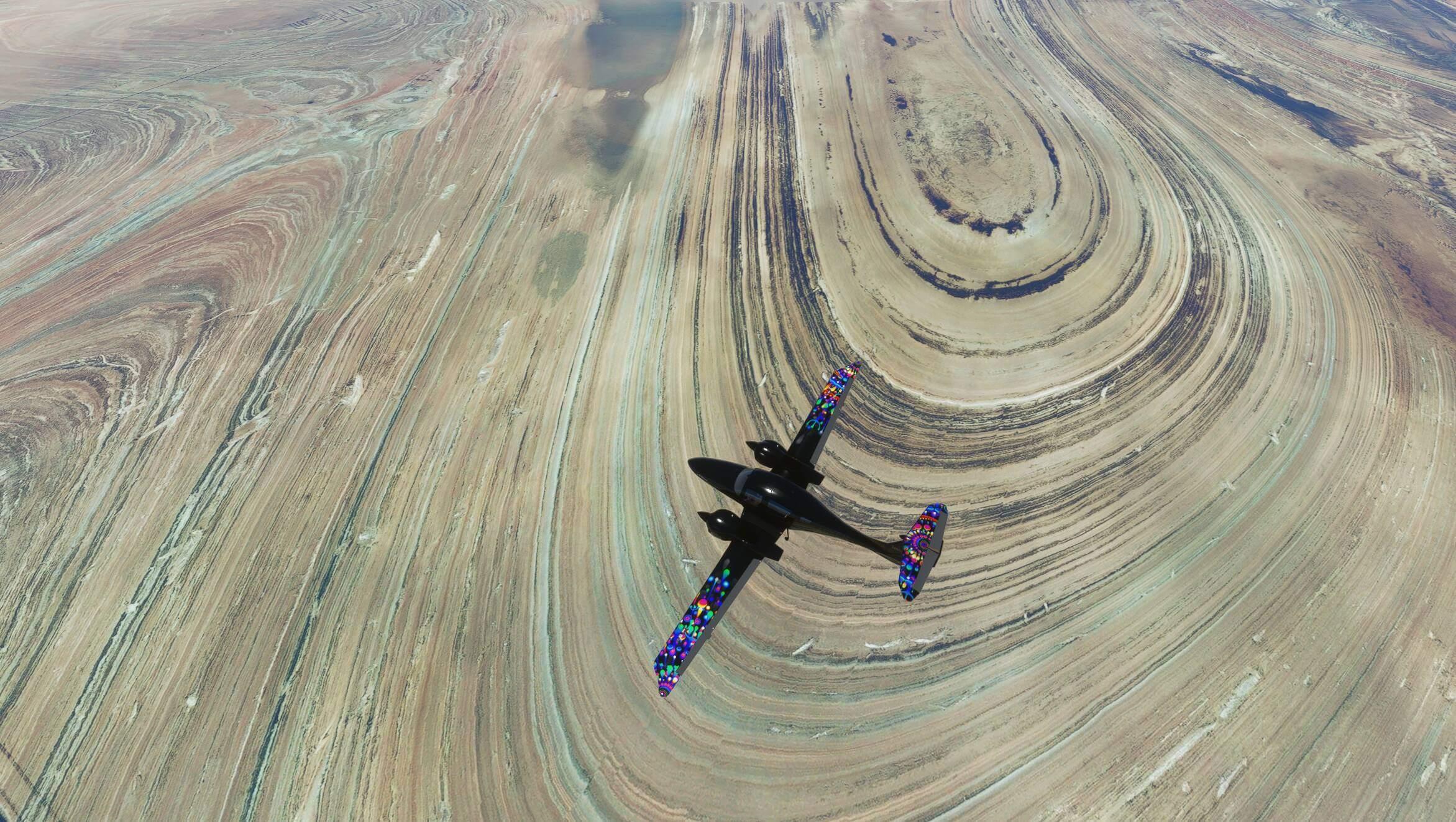 Plane flying over Iran