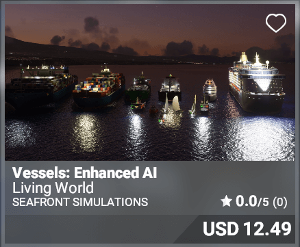 Vessels: Enhanced AI - Seafront simulations