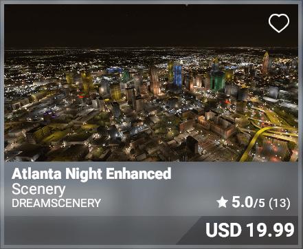 Atlanta Night Enhanced - DreamScenery
