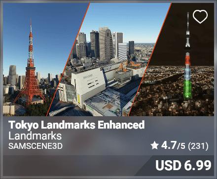 Tokyo Landmarks Enhanced