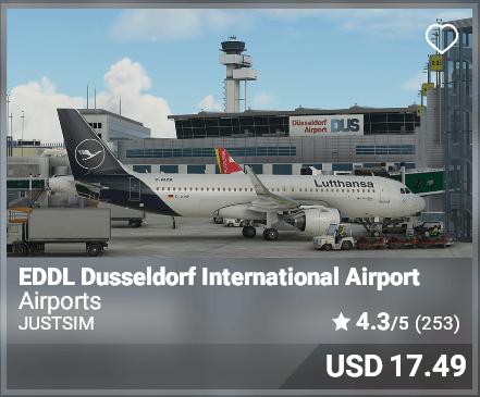 EDDL Dusseldorf International Airport - JustSim