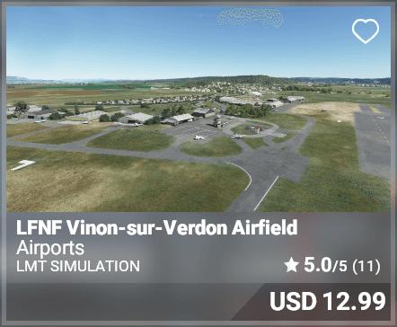 LFNF Vinon-sur-Verdon Airfield - LMT Simulation
